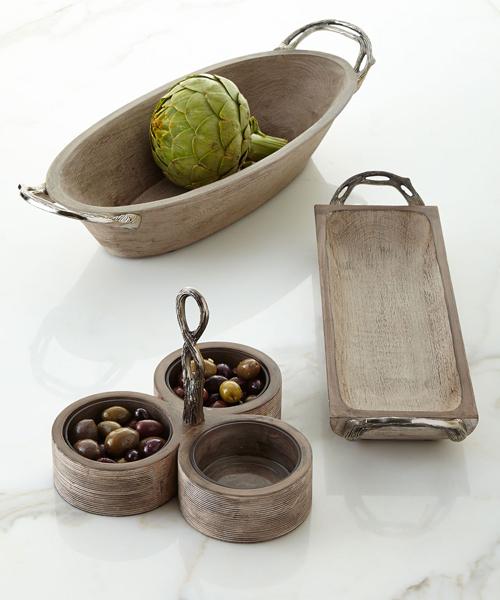 Weathered Wood Serveware