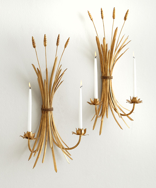 Candle Sconces - Wheat