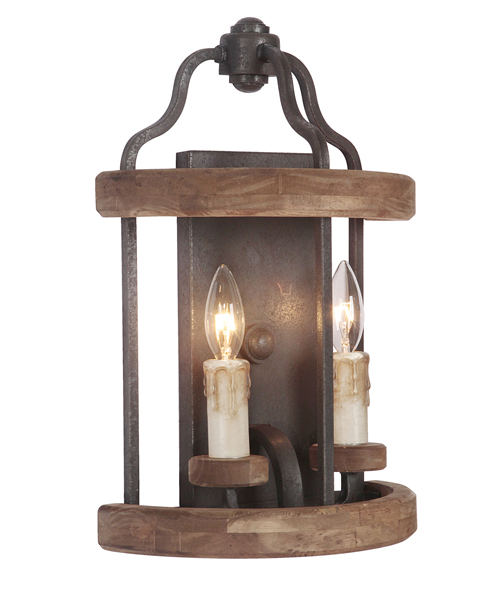 Rustic Cabin Wall Sconces : Rustic Sconces & Lodge Wall Lamps