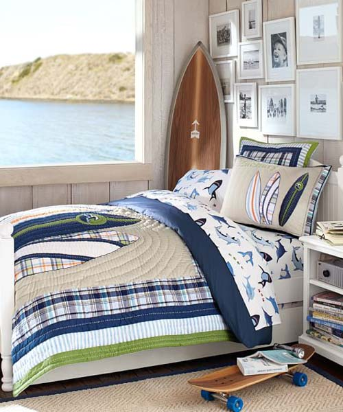 Boys Surfing Bedding
