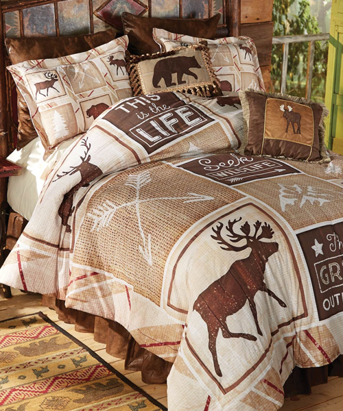 Beau Cabin Adventures Log Cabin Bedding
