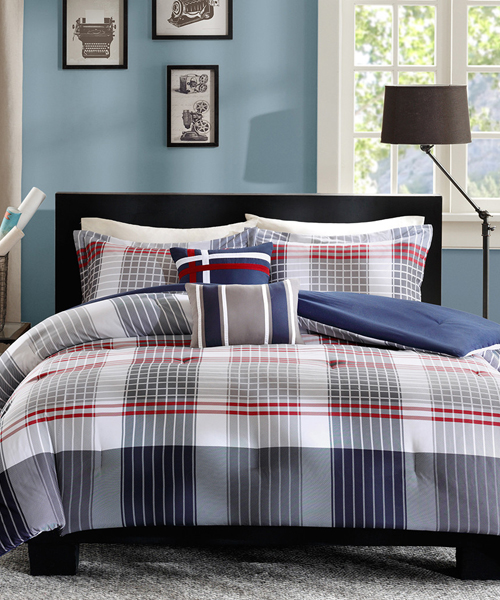 Caleb Boys Plaid Comforter