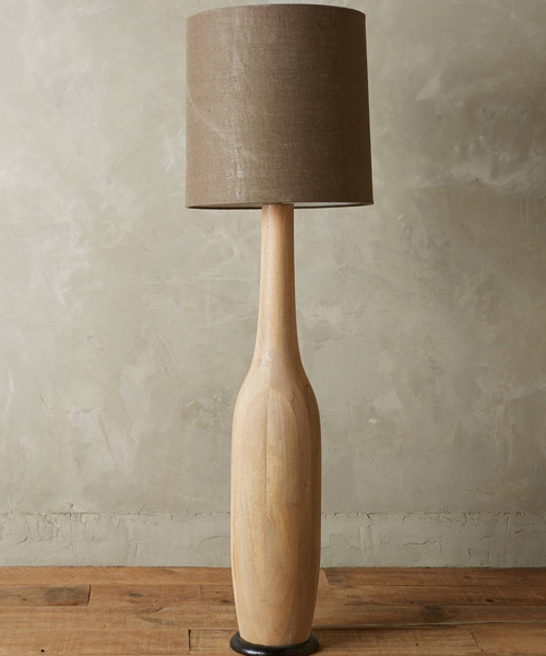 Carved Wood Floor Lamps