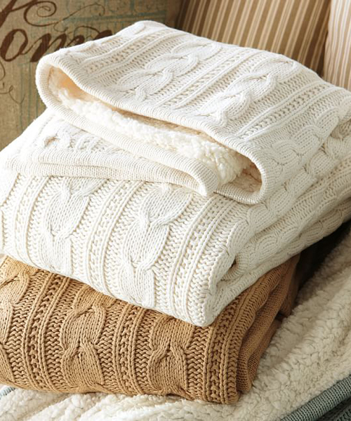 Cable Knit Throws Cozy Cable Knit Blankets