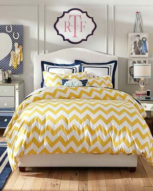 Dorm Bedding Chevron