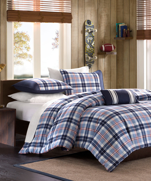 Elliot Plaid Boys Bedding