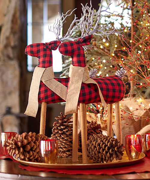 Fabric Reindeer