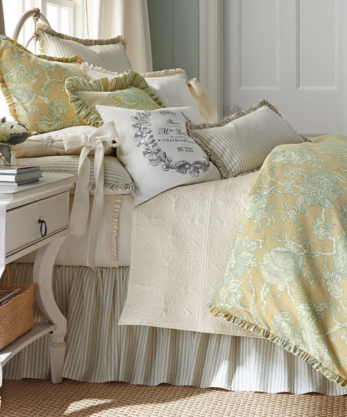 By Color: Yellow Bedding