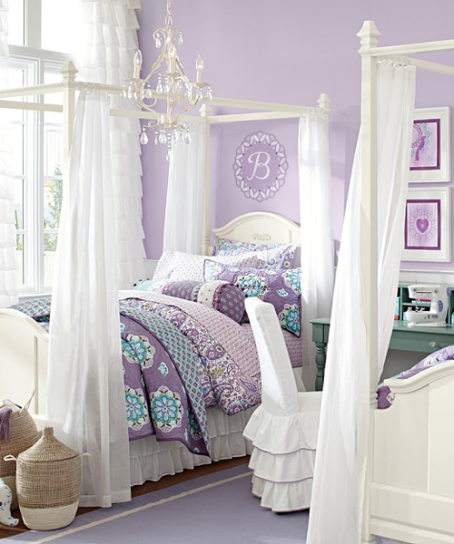 Girls Canopy Bed & Kids Furniture Kids Bedding u0026 Coordinating Room Decor
