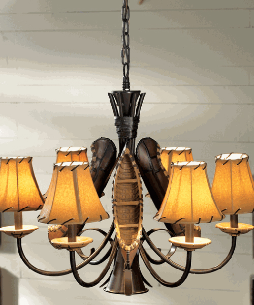 Grand Old River Canoe Lodge Chandelier