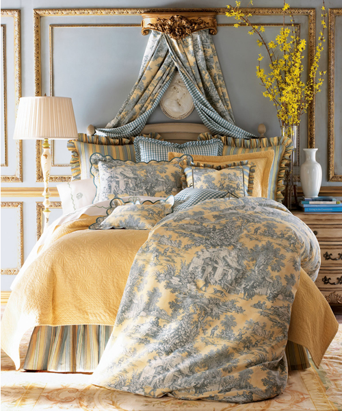 Toile Bedding Set Lutece Cypress Linens