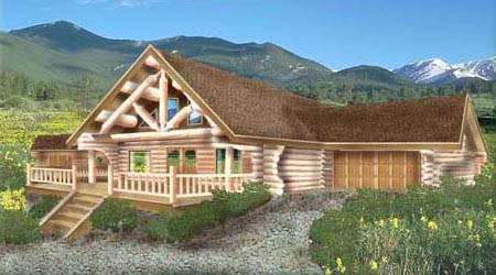 Log home plans custom log home floor plans for Log home plans canada