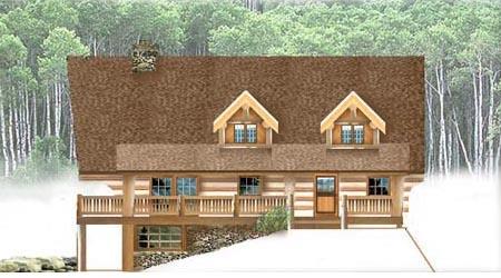 Log Home Plan 9