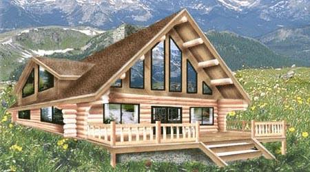 Cabin floor plan canadian log homes for Log cabin plans canada