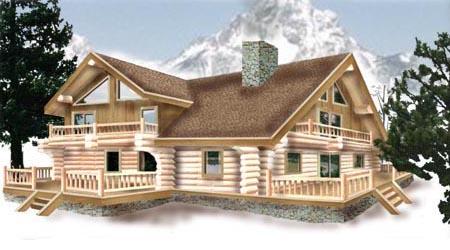 Log Home Plan 5