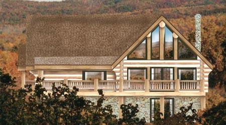 Log Home Plans 6