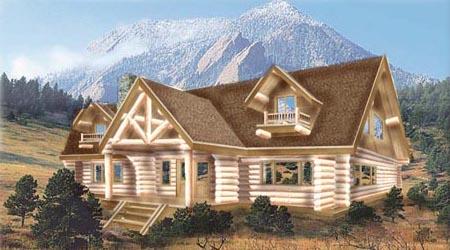 Log Home Plans 8