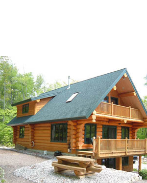 Log home packages kits by canadian log homes for Canadian kit homes