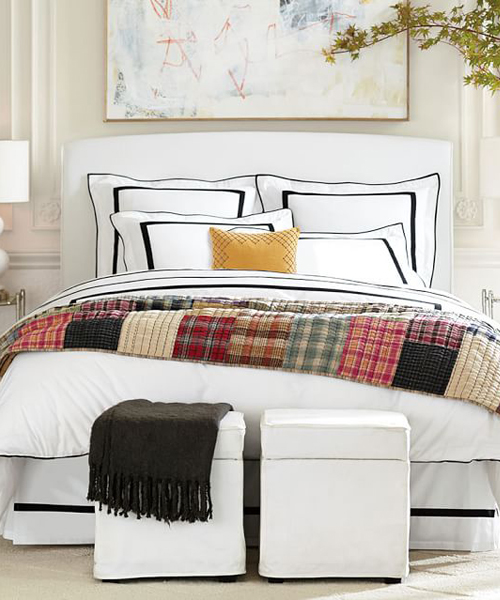 By Color: Black & White Bedding
