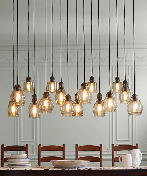 Rustic Chandeliers: Paxton Rustic Glass Chandelier,Lighting