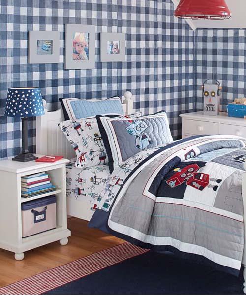 Boys bedding kids bedding for girls boys comforters for Robot bedroom