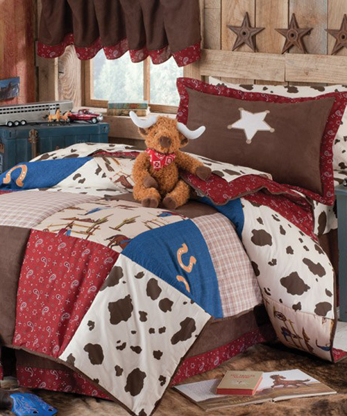 Kids cowboy comforter western cowboy collection for Cowgirl bedroom ideas for kids