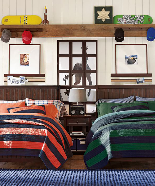 Rugby Stripe Bedding