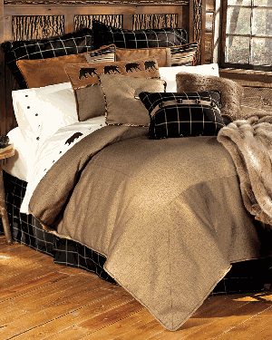 rustic bedding - Rustic Cabin Decor