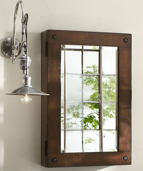 Rustic Medicine Cabinet - Weathered Industrial Style