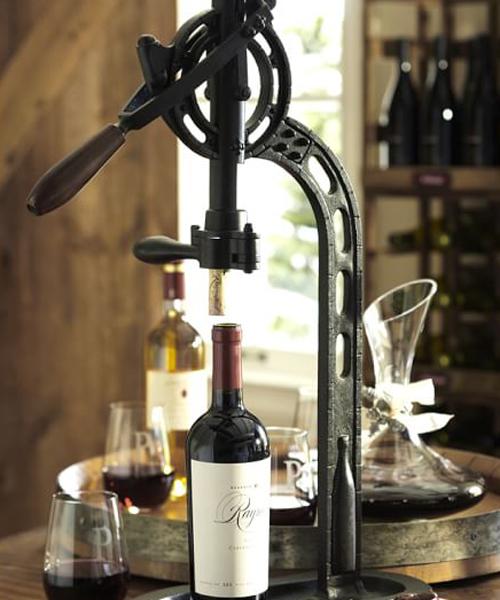Rustic Standing Wine Opener Vintage Opener
