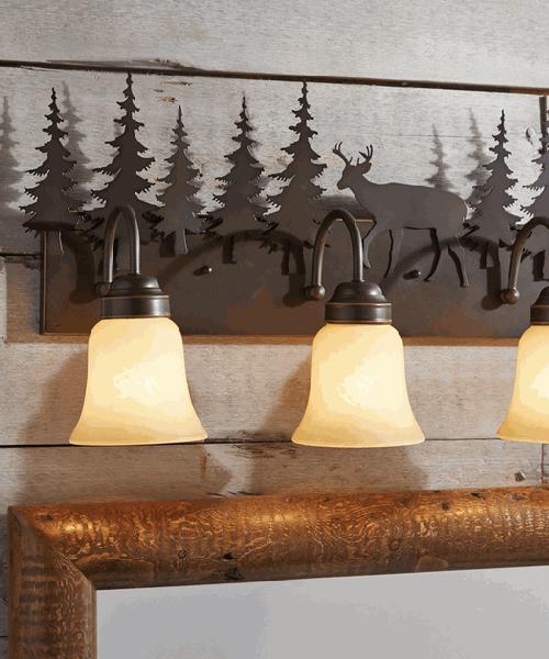 Rustic bathroom lights
