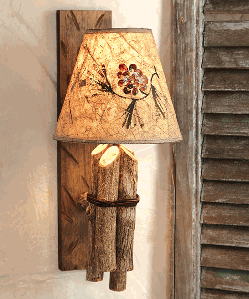 Twig Rustic Wall Lamp