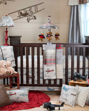 Airplane Nursery Bedding