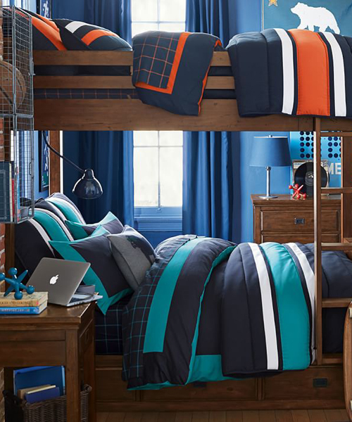 Boys Colorblock Reversible Duvet Cover