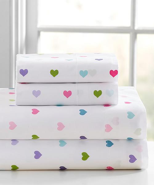 Girls Heart Sheets