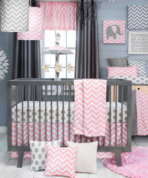 Girls Crib Bedding Glenna Jean - Baby Bedding - Crib Bedding Sets - Unique Baby Bedding