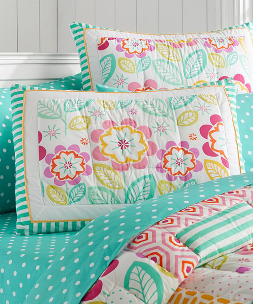 Girls Green Bedding