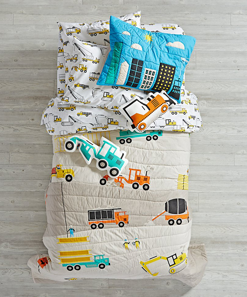 Kids Construction Quilt - Kids Construction Bedding : construction quilt - Adamdwight.com