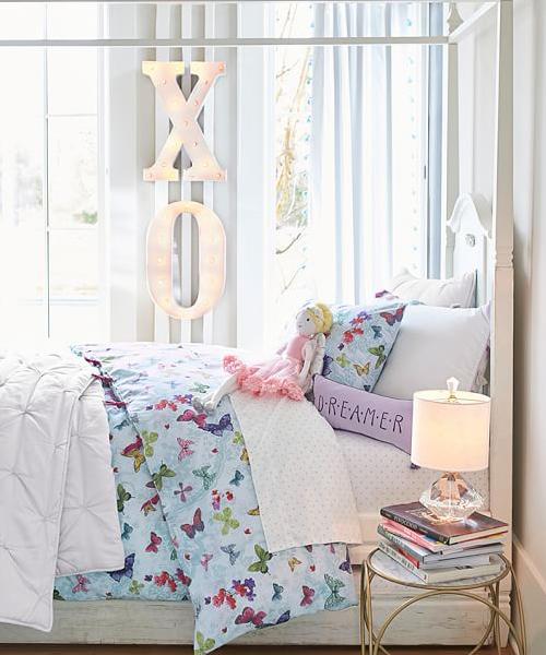 Organic Lace Butterfly Bedding Girls Duvet Case