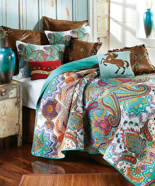little cowgirl bedding paisley brilliance girls horse bedding - Horse Bedding