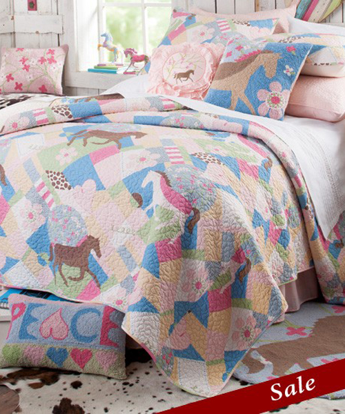 Peace & Love Ponies Bedding