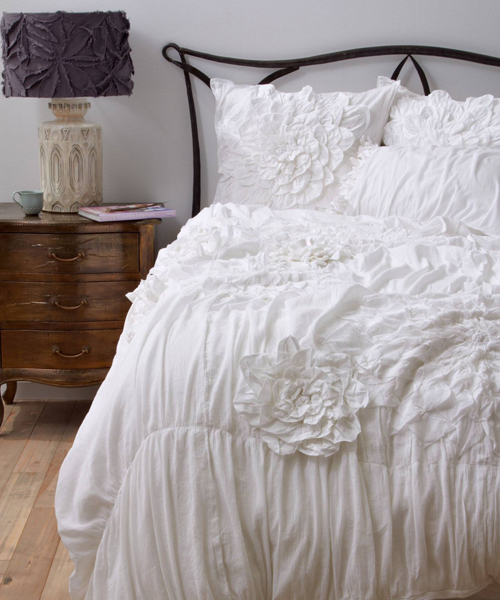 Anthropologie Bedding Ruffled Duvet Cover