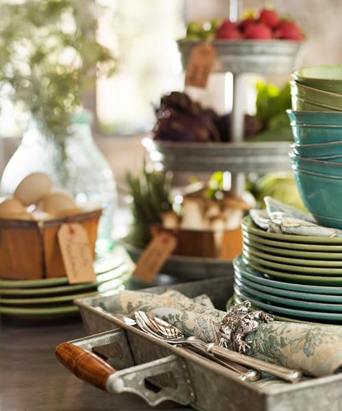 Cambria Green Stone Dinnerware