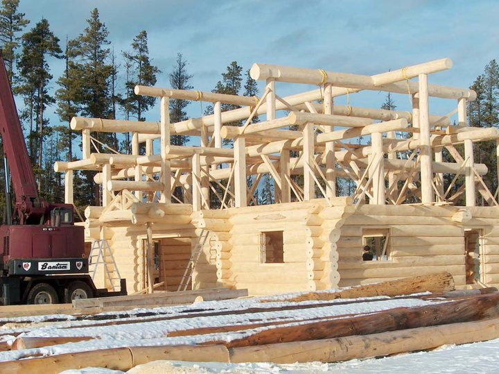 Handcrafted log homes custom log cabins kits for Cottage packages manitoba