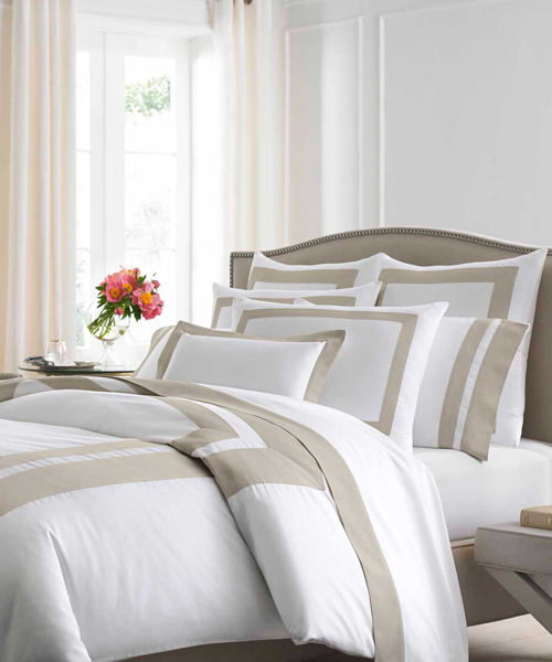 Kassatex Braga Luxury White Duvet Cover