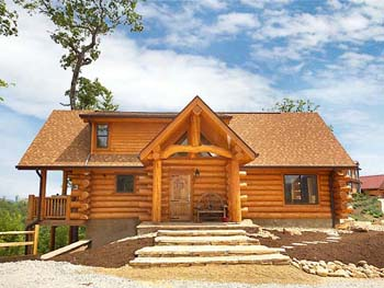 Log home pictures cabin photos for Cottage packages manitoba