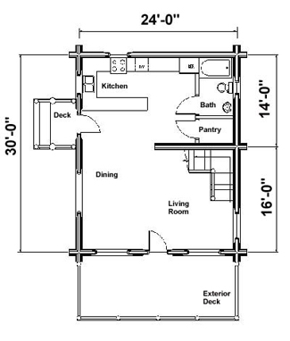 Small Cabin Home Plan Canadian Log Homes