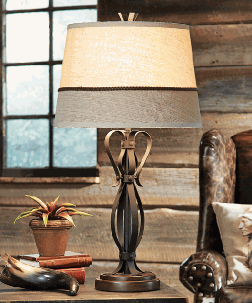 Western Iron Table Lamp