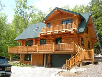 Log Cabin Home Plan The WhitePass Home Design