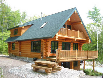 Log cabin home plan the whitepass home design for Log cabin plans canada